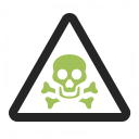 Sign Warning Toxic Icon 128x128