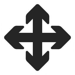 Arrow Cross Icon 256x256