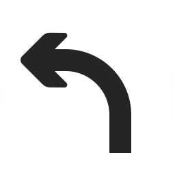 Arrow Curve Left Icon 256x256