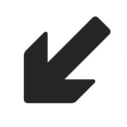 Arrow Down Left Icon 256x256