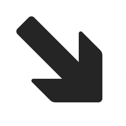 Arrow Down Right Icon 256x256