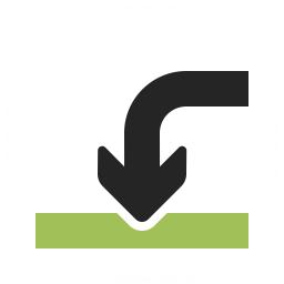 Arrow Into Icon 256x256