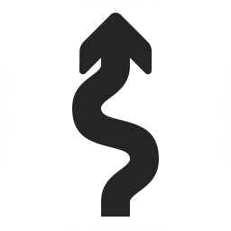 Arrow Squiggly Icon 256x256