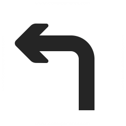 Arrow Turn Left Icon 256x256