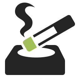 Ashtray Cigarette Icon 256x256