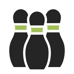 Bowling Pins Icon 256x256
