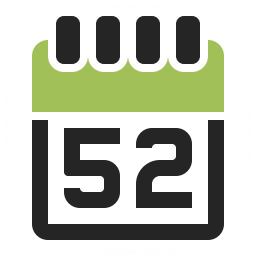 Calendar 52 Icon 256x256