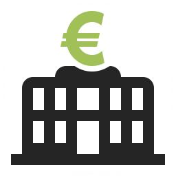 Central Bank Euro Icon 256x256
