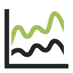 Chart Spline Icon 256x256