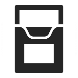 Cigarette Packet Empty Icon 256x256