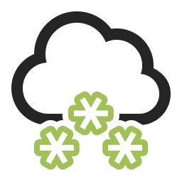 Cloud Snow Icon 256x256