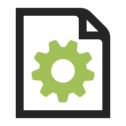 Document Gear Icon 256x256