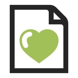 Document Heart Icon 256x256
