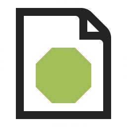 Document Stop Icon 256x256