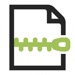 Document Zip Icon 256x256