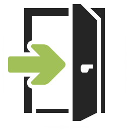Door Exit Icon Iconexperience Professional Icons O Collection