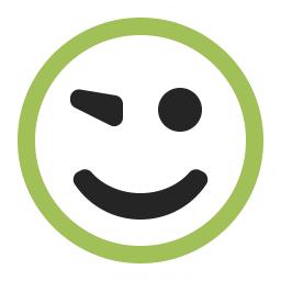 Emoticon Blink Icon 256x256