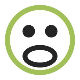 Emoticon Surprised Icon 256x256