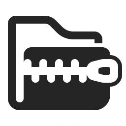 Folder Zip Icon 256x256