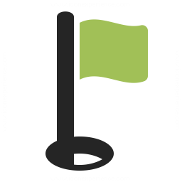 Golf Flag Icon 256x256