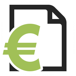 Invoice Euro Icon 256x256