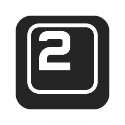 Keyboard Key 2 Icon 256x256