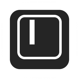 Keyboard Key I Icon 256x256
