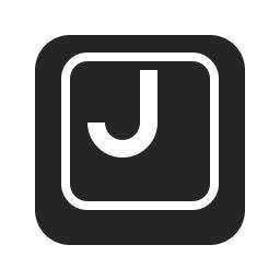 Keyboard Key J Icon 256x256
