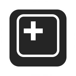 Keyboard Key Plus Icon 256x256