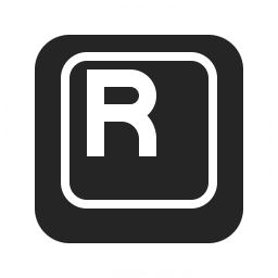 Keyboard Key R Icon 256x256