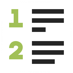 List Style Numbered Icon 256x256