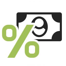 Money Interest Icon 256x256