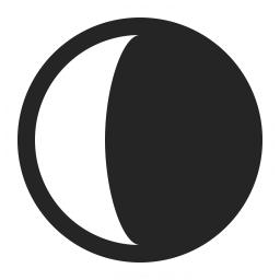 Moon Half Icon 256x256