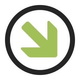 Nav Down Right Icon 256x256