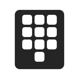 Numeric Keypad Icon 256x256