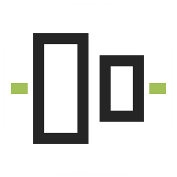 Object Alignment Vertical Icon 256x256