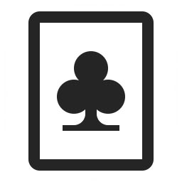 Playing Card Clubs Icon 256x256