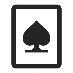 Playing Card Spades Icon 256x256