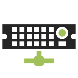 Rack Server Network Icon 256x256