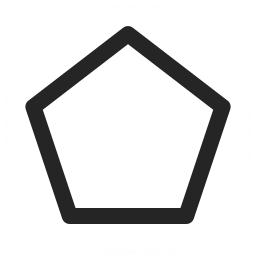 Shape Pentagon Icon 256x256