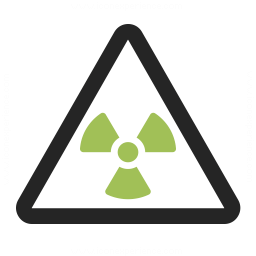 Sign Warning Radiation Icon 256x256