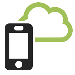 Smartphone Cloud Icon 256x256