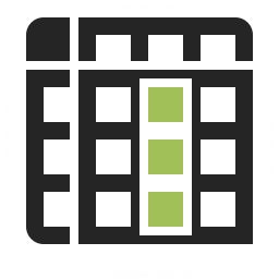 Spreadsheed Column Icon 256x256