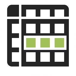 Spreadsheed Row Icon 256x256