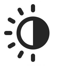 Sun Half Icon 256x256