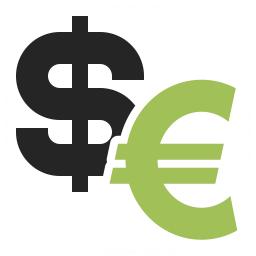 Symbol Dollar Euro Icon 256x256