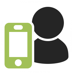 User Smartphone Icon 256x256