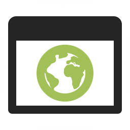 Window Earth Icon 256x256