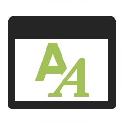 Window Font Icon 256x256