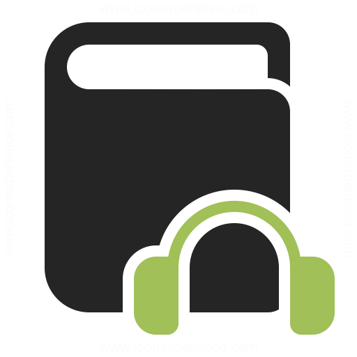 Book Headphones Icon